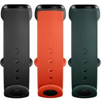 Оригинальные ремешки для Xiaomi Mi Smart Band 5/6 Strap (3 pack, Black/Orange/Teal) BHR4639GL